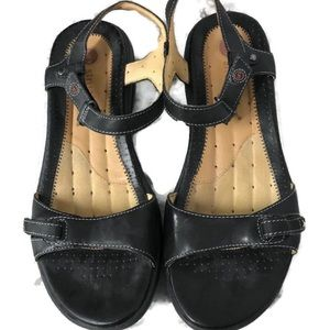 Clark's black strap sporty sandals